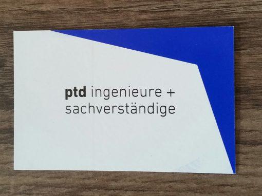 Geschäftsausstattung ptd Ing.-GmbH
