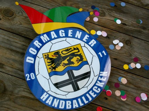 Digitaldruckaufkleber Dormagener Handballjecken